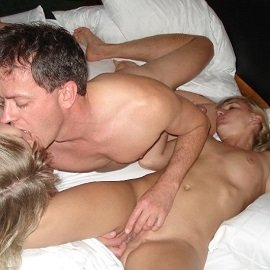 Hardcore Amateur Section - Foursome Time At The Marriott