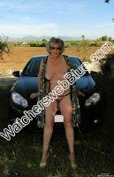 Jo Strips In Mallorcan Countryside