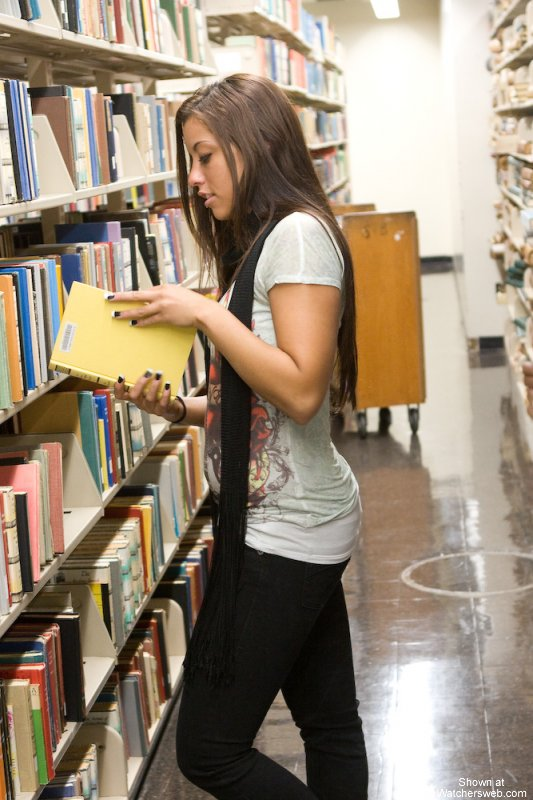 Valuable Amateur sex in library something is