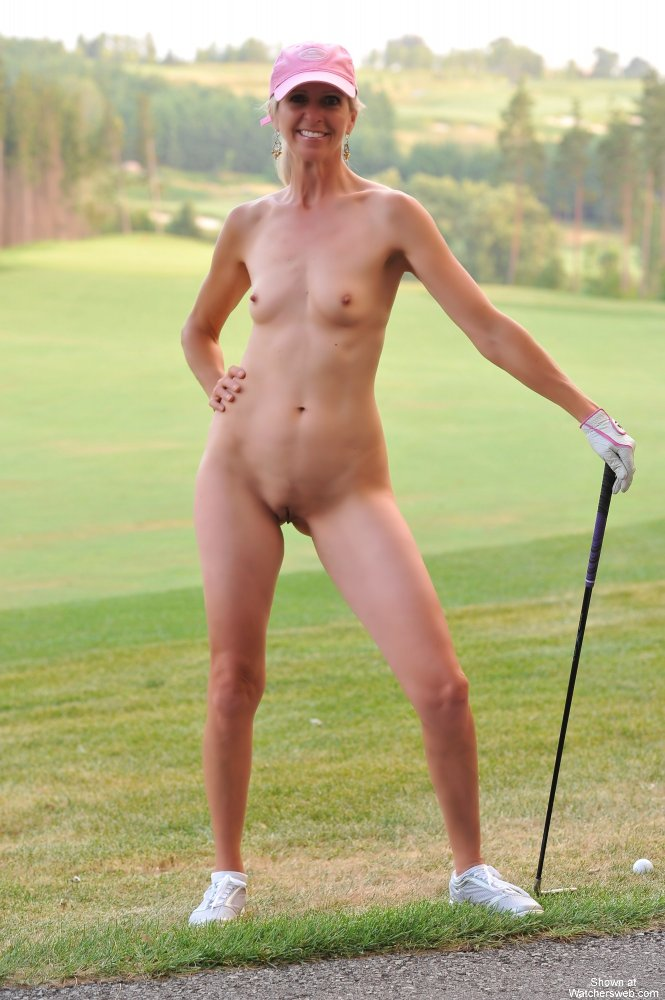 Naked sluts on golf course